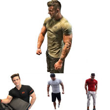 Men's Gym Fitness Breathable T-Shirt Bodybuilding Tee Tops Short Sleeve Clothes