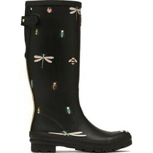Joules Welly Print Womens Ladies Rubber Wellies Tall Wellington Boots Size 4-8