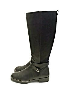 Coach Black Leather Turnlock Riding Boots FG1010 Excellent Worn 1x 39.5 US 9 B
