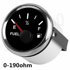 Silver 52MM Fuel Tank Level Gauge 0-190 ohm Pointer For Car Truck ATV UTV Boat