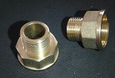 "BRASS BRONZE REDUCER ADAPTER 3/4"" FEMALE x 1/2"" MALE NPT PIPE#BR NIP"