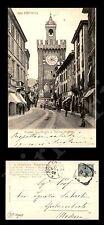 Brescia - Corso Garibaldi e Torre Pallata - animata - 2.10.1908