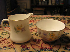 "Vintage Radfords Bone China ""Fenton"" Stoke On Trent Creamer & Sugar Bowl Set"