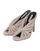 New Women Cape Robbin Lesley-1 Velvet Peep Toe Bow Stiletto Slip On Sandal