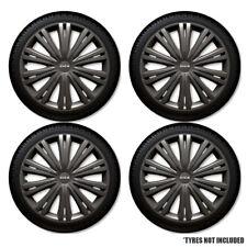 "13"" 13 Inch Caravan Trailer Wheel Trims X 4 Trim Dark Grey Hub Caps Covers Set"
