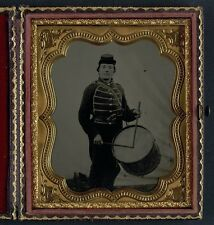 Photo Civil War Union Private Haines 49th Ohio Infantry Regiment Drummer