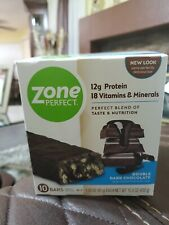 Zone Perfect Nutrition Bars Double Dark Chocolate 10 Bar Count Exp 01/21 New