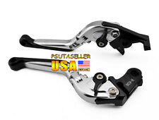 Silver Folding Brake Clutch Levers For Suzuki Bandit 650 Bandit1250/S 2007-2010