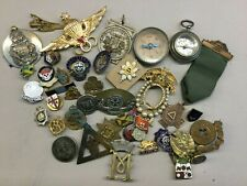More details for job lot enamel badges, sweetheart brooches, compasses etc (some with missing pin