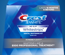 NO BOX CREST 3D White No-Slip SUPREME FLEXFIT Whitestrips Teeth Whitening Strips
