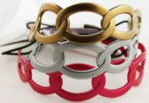Goody Interlocking Rings Gelly Plastic Headwrap Jelly Head Band Gold Pink Silver
