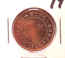 CIRCULATED 1948 10 CENTS HONG KONG COIN!