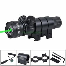 Tactical Green Laser Sight Light Rifle Scope+Switch+Picatinny Rail+Barrel Mounts