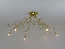 lampadario plafoniera a soffitto moderna classica oro lucido salone cucina bagno