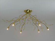 WAWE P6 lampadario moderno classico plafoniera oro lucido elegante DIAMANTLUX
