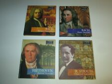 Classic Composers CD Lot (4) Bach Baroque Beethoven Romantic Strauss Modern