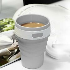 Portable Collapsible Silicone Folding Retractable Mug Cup Outdoor Activities GH