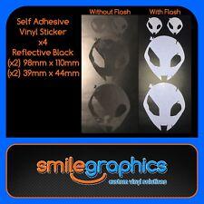 BMW S1000RR Alien Head Decals Reflective Black Stickers