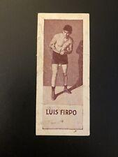 1923 V137 Canadian Willard's Chocolates Luis Firpo Boxing Card
