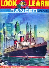 RMS QUEEN ELIZABETH LINER  on Look & Learn Magazine Cover, March 1967