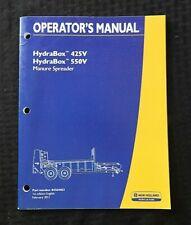 Genuine New Holland Hydrabox 425v 550v Manure Spreader Operators Manual Nice