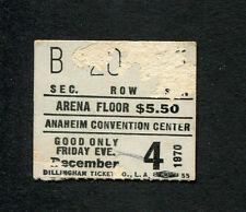 Original 1970 Elton John Concert Ticket Stub Anaheim Tumbleweed Connection