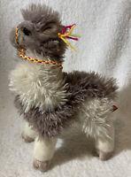 "Plush Shaggy Llama Douglas Cuddle Toy Soft Stuffed Animal 11"" Standing Braided"