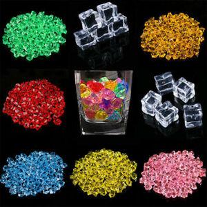 5/50pcs Colorful Acrylic Ice Fake Artificial Cubes Crystal Bar Club Birthday