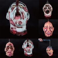 Horror Zombie Head Halloween Party Prop Hanging Decoration Cosplay Scary Haunted