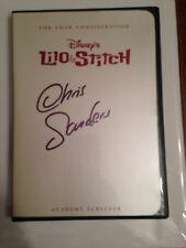 Lilo & Stitch For Your Consideration FYC DVD Signed Chris Sanders