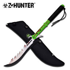 "NEW! 27.5"" Zombie Dead Hunter Two-Hand Fantasy Machete Sword w/ Sheath"