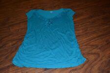 D9- A.N.A. Teal Cap Sleeve Top Size S
