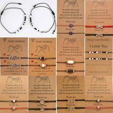Fashion 2pcs/set Heart Sunflower Compass Charm Bracelets Couple Bracelet Jewelry