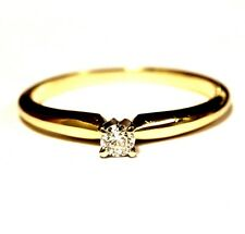 14k yellow gold .10ct SI3 I round diamond solitaire engagement ring 1.7g