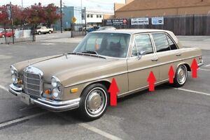 Mercedes Benz W108 280se Door SIDE AND REAR BODY MOULDING STRIP CHROME TRIM