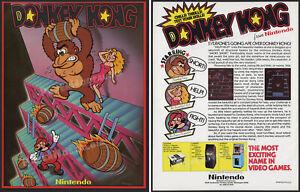 DONKEY KONG__Original 1981 Nintendo Trade Print AD / arcade coin-op game promo