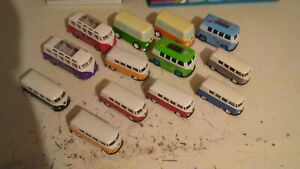 joblot vw campervan diecast welly,etc. used 13 total pullbacks offers welcome