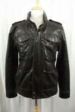 Levi's Faux Leather Brown Jacket Mens Size S Small Coat Levi