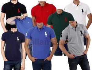 Polo Ralph Vari Colori Uomo Maglia maglietta t-shirt Man ralf Big Pony