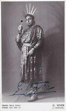GIOVANNI VOYER opera tenor signed photo as Nero