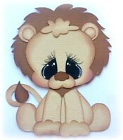 BABY LION PREMADE PAPER PIECING DIE CUT  BY MY TEAR BEARS KIRA