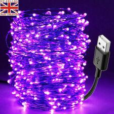 10M Ultraviolet 100LED DIY Home USB Port Waterproof Flexible Strip Light Lamp