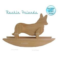 Rocking Corgi Dog Wood Welsh Corgi Sculpture
