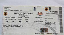AEK Athens FC vs Red Bull Salzburg ticket UEFA Cup 2007