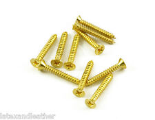 24k Gold Short Humbucker Ring Screws 10pcs fits Gibson Les Paul Neck Pickup
