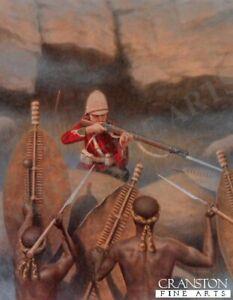 Zulu war military art print Battle of Isandhlwana 24th regiment of foot soldier
