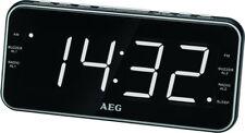 AEG Digitalradio Uhrenradio Radiowecker LED Radio Uhr Wecker digitales Weckradio