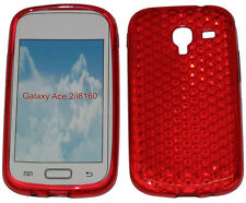 Pattern Gel Jelly Case Protector Cover For Samsung Galaxy Ace 2 GT i8160 Red UK