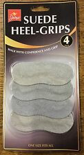 2 PAIRS (4) JUMP SUEDE HEEL GRIPS ONE SIZE FITS ALL GREY PADDED SHOE GRIP