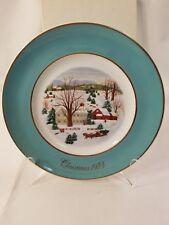 "Avon Christmas Plate 1973 ""Christmas On The Farm"" Wedgewood 1112"